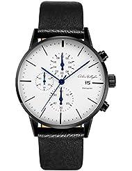 Adam Gallagher Mens Watches Waterproof Quartz Wrist watches Calendar Date Mesh Alloy Black Color Watch