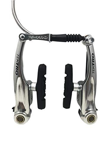 Tektro New 837AL Linear Pull V-Brake Bike MTB Hybrid Black/Silver (Silver, Rear Wheel) ()