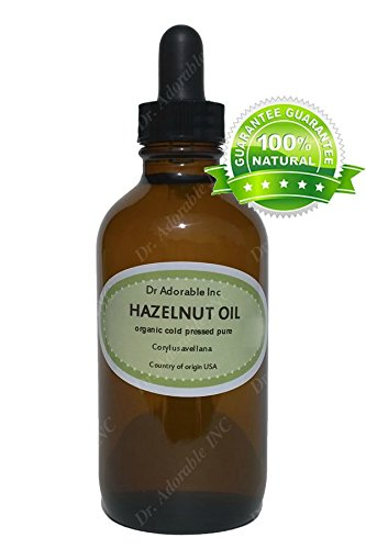 Hazelnut Oil for Skin Care Moisturizes Massage Therapy and Aromatherapy 1.1 oz Amber Glass Bottle with Glass Dropper