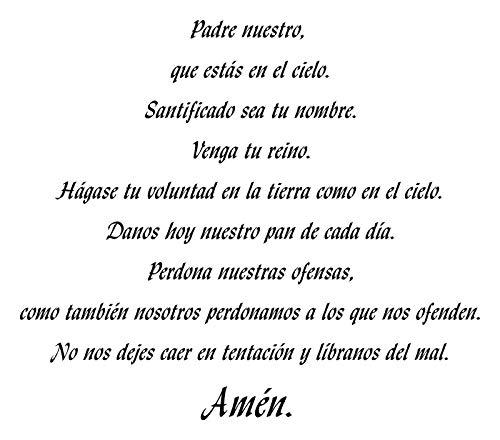 Frankies Cajun Customs Padre Nuestro - Our Father Prayer in Spanish Vinyl Decal - 42