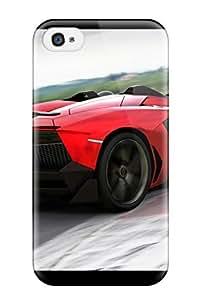 Ultra Slim Fit Hard Nicolartin Case Cover Specially Made For Iphone 4/4s- Lamborghini Aventador J 17