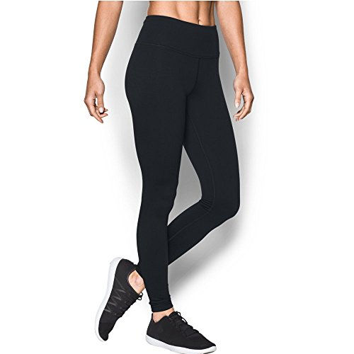 Under Armour Women's Hi-Rise Legging, Black (001)/Gray Area, Medium