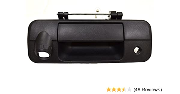 Tailgate Handle with Camera Hole Textured Black PT Auto Warehouse TO-3952A-T1