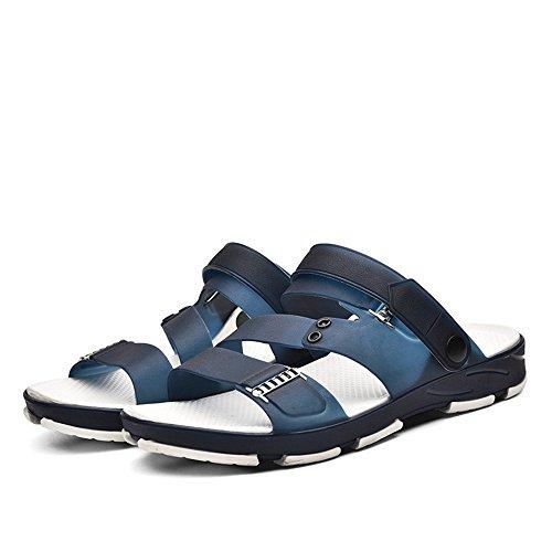 los Hombres al de de Ocio Aire Deportes convenientes Blue los los Aire Sandalias para de estorbos y Interiores Libre Libre al q8xnOT0