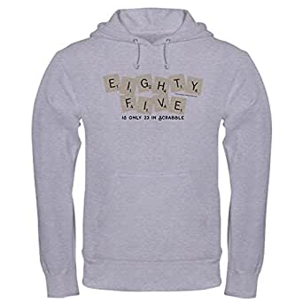 Amazon.com  CafePress Scrabble Eighty Five Only 23 - Pullover Hoodie ... 5e9879f903