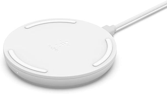 Belkin Boost Charge 10W Wireless Charging Pad + QC 3.0 Wall Charger + Cable, White, WIA001ttWH