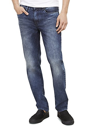 New York Stretch Jeans (Kenneth Cole New York Men's Straight-Fit Stretch Blasted Jean 32/30 Light)