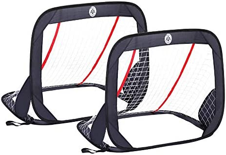 Kidseden 4FT Foldable Children Pop-Up Play Goal for Outdoors Portable Square Soccer Goal with Carrying Bag Practice Training Sports Gift Idea for Kids