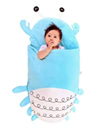 Toddler Baby 3 in 1 Blanket Snap Mat Cute Crab Sleeping Bag Nursery Swaddle Wrap for 0-12 Months