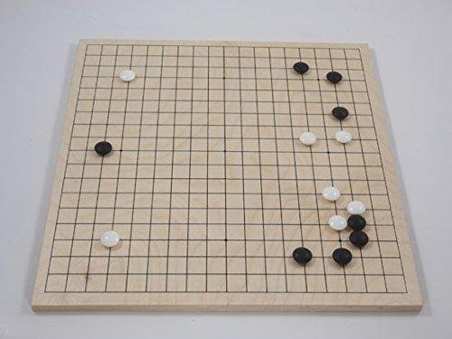 Go-Spiel: Birkenholz-Klappbrett, 19x19, Mulitplex, 11mm