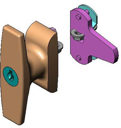 Grip Range .63 to 1.25, Southco Locking T-Handle Latches (1 Each)