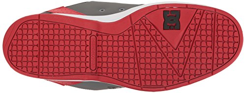 DC Herren Syntax Skate Schuhe, EUR: 44, Grey/Black/Red