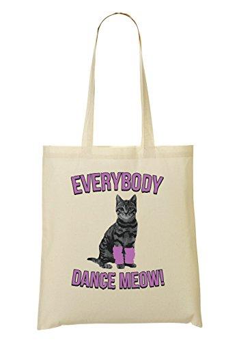 Everybody Dance Meow Handbag Shopping Bag
