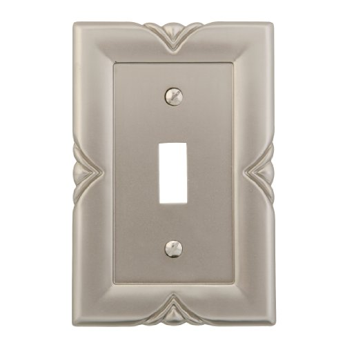 Bedford Metal - AmerTac 87TN Bedford Cast Metal Single Toggle Wallplate, Satin Nickel