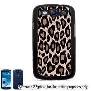 Tan Leopard Animal Print Pattern Samsung Galaxy S3 i9300 Case Cover Skin Black