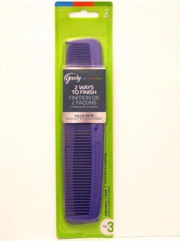 Goody Hair Comb (Goody Dressing Comb Multi Set - 2 Pk. (Purple & Gray))