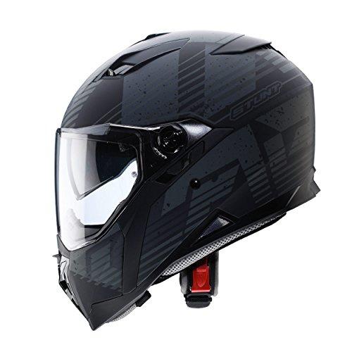Matt Black Motorbike Helmet - 8