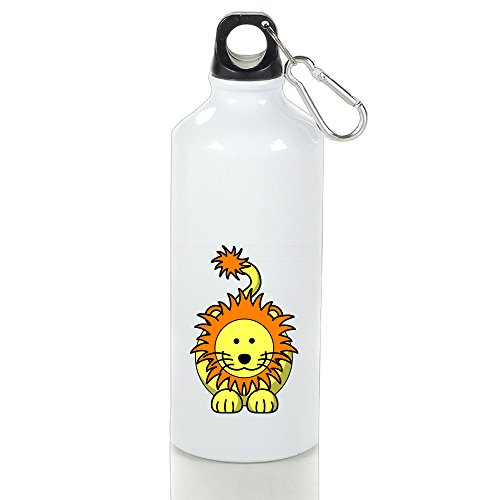 Bast Cute Lion Aluminum Travel Sports Gym Beach Water Bottle Loop Cap 500ml