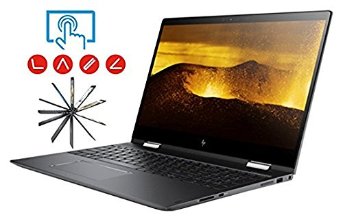 HP Envy X360 15t 2-in-1 Convertible Laptop PC (AMD 7th Gen Quad-Core FX 9800P APU AMD Radeon R7 16GB RAM 1TB HDD + 128GB SSD 15.6 inch FHD (1920 x 1080) Touchscreen Win10) Dark Ash Silver