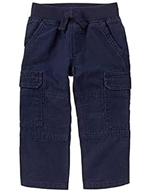 Baby Boy's Navy Go Cargo Pull On Pants