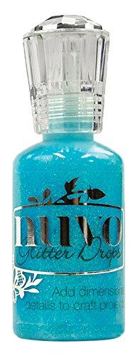 TONIC STUDIOS Nuvo Glitter Drops 1.1Oz-Blue Lagoon, Blue Lagoon