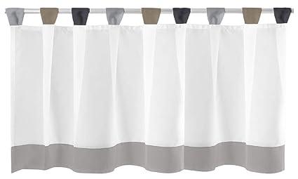 Rideau brise-bise avec passants env. 150 x 45 cm, Polyester, gris ...