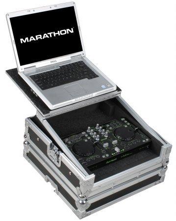 Marathon Flight Road Case MA-DJTIMU2LT  Case To Hold 1 x DJ tech ImiX, Reload, U2 Station Music Controller with Laptop Shelf