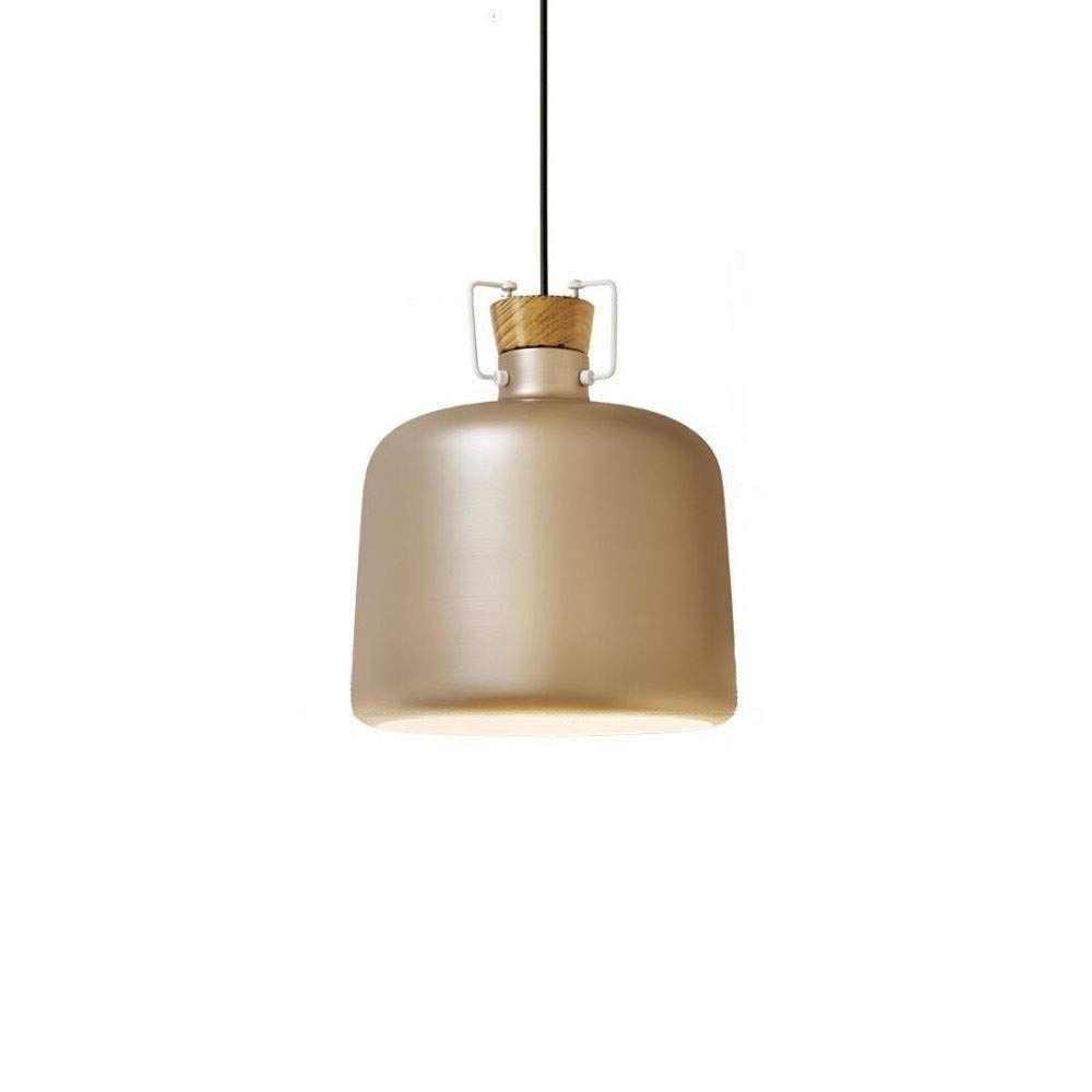 Gold 25CM Moderne LED-Kronleuchter Galvanisch lackierte, schmiedeeiserne Einzelkopf-Restaurant-Kronleuchter Einfache dekorative Lampen ohne Lichtquelle