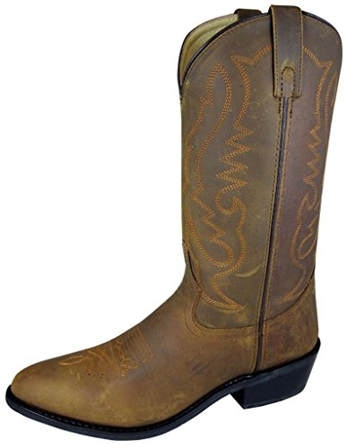 Smoky Men'sOiled Distress Brown Leather Western Cowboy Boot ()