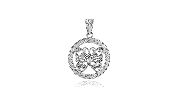 solid sterling silver circle feather charm pendant  14x14x6mm