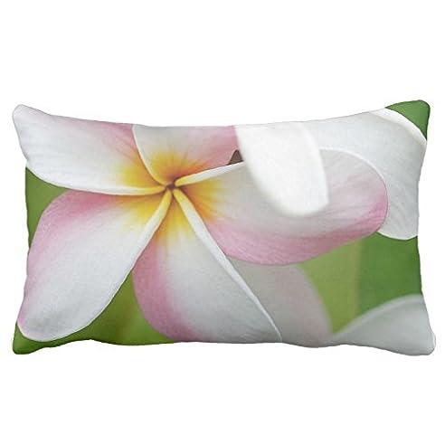 Plumeria Frangipani Hawaii Blumen Motiv, Blanko, 20 X 30 Cm, Kissen  Beidseitig