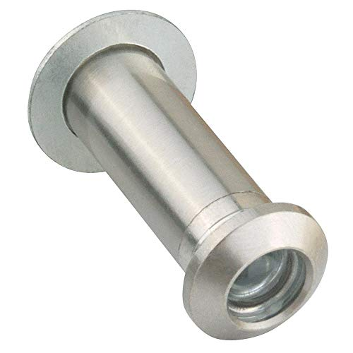 Design House 204818 Adjustable 35-55-Millimeter Door Viewer Peephole, Satin Nickel