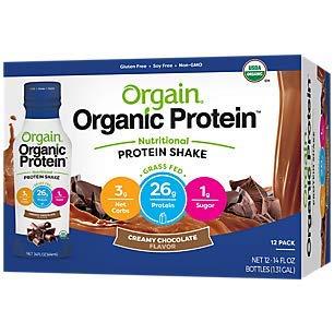 Orgain Organic 26g Grass Fed Whey Protein Shake, Creamy Chocolate...