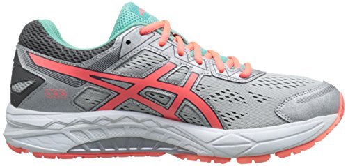 7 Mint Coral ASICS Fiery Shoe Aqua Fortitude Silver Running Women's Gel Bxqvt