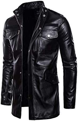 コート メンズ PUレザージャケット メンズ ジャケット ミディアムロングコート イギリス風 ライダースジャケット長袖 春 秋 冬 防風