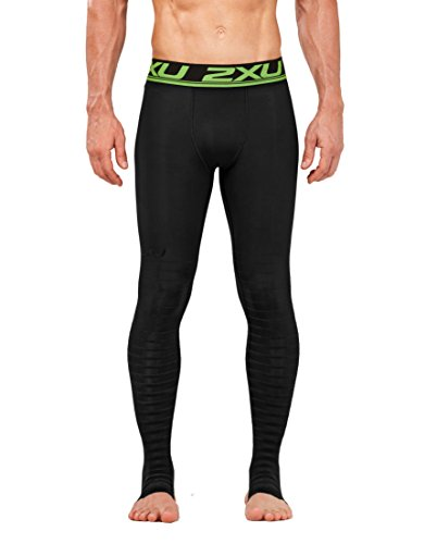 2XU Men's Elite Power Recovery Compression Tights, Black/Nero, Medium/Tall by 2XU (Image #1)