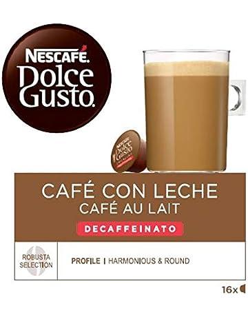 NESCAFÉ Dolce Gusto Café con leche descafeinado, Pack de 3 x 16 Cápsulas - Total