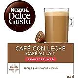 NESCAFÉ Dolce Gusto Café con leche descafeinado, Pack de 3 x 16 Cápsulas - Total: 48 Cápsulas de Café