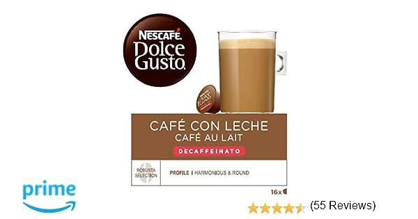 NESCAFÉ Dolce Gusto Café con leche descafeinado, Pack de 3 x 16 Cápsulas - Total: 48 Cápsulas de Café: Amazon.es: Alimentación y bebidas