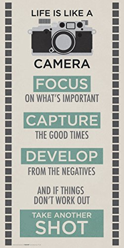(Culturenik Life is a Camera Inspirational Motivational Photography Quote Print (Unframed 12x24 Poster))