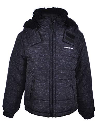 London Fog Boys' Toddler' Warm Winter Jacket with Cozy Lining, Heather Gray, 4T