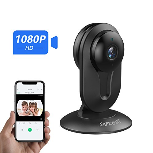 [2019 New] 1080P HD Security Camera, Safevant Wireless IP Camera Built in Two-Way Audio, Motion Detection, Security Surveillance CCTV Camera with Night Vision-Cloud Service Available