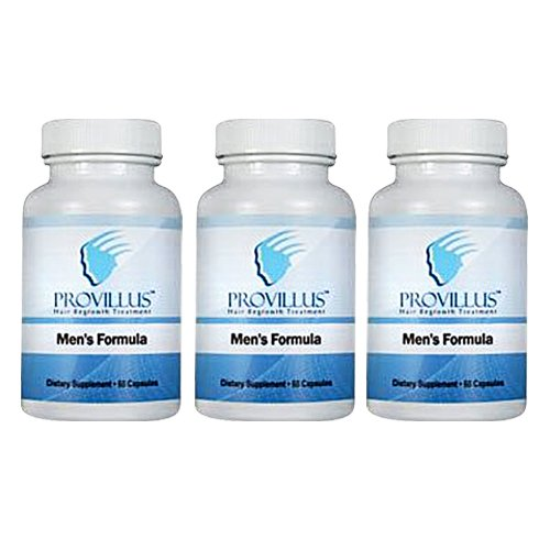 Provillus Ergänzungsmittel gegen Haaraufall beim Mann ~ Pflanzliches Heilmittel um Kahlköpfigkeit zu vermeiden und Haare wieder wachsen zu lassen ~ 3 Flaschen