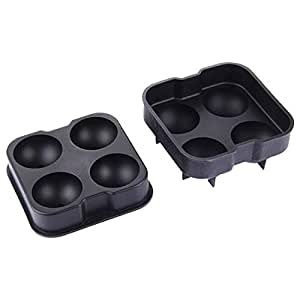 Sunsky 4-Grid Ball Shape Ice Making Tray - Black