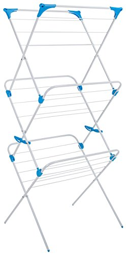 Minky Trio Concertina Indoor Drying Rack, White