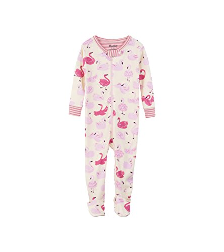 - Hatley Baby Girls Organic Cotton Footed Sleepers, Dancing Swans, 3-6 Months
