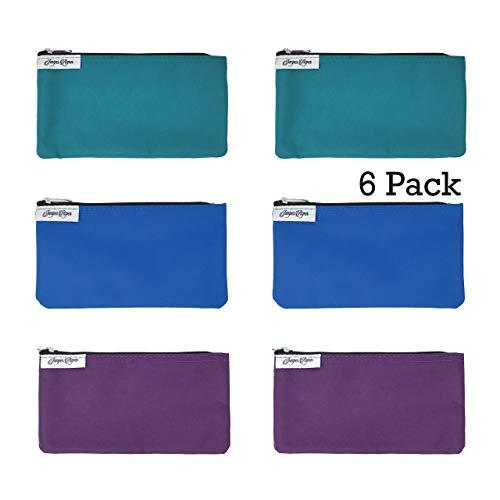 Reusable Snack Bags: 6 Pack Snack Bag Set Lunch Baggies