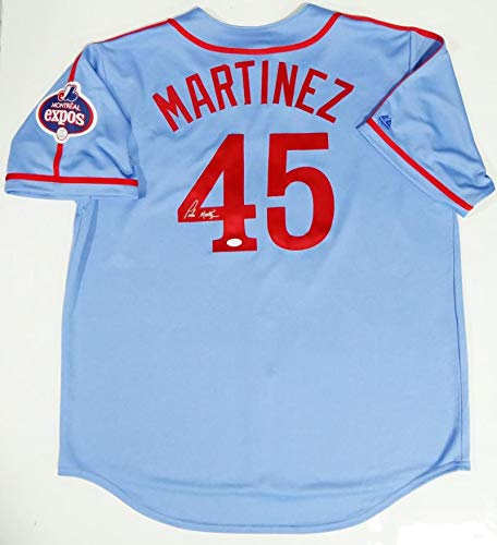 Pedro Martinez Autographed Blue Montreal Expos Jersey- JSA W Authenticated