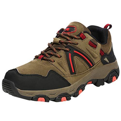 [해외]Men Hiking Shoes Breathable Outdoor Trail Trekking Athletic Walking Sneakers / Men Hiking Shoes Breathable Outdoor Trail Trekking Athletic Walking Sneakers (US:7.5, Brown)