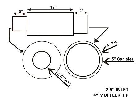 Amazon Com Universal Fitment N1 4 Inch Stainless Steel Muffler